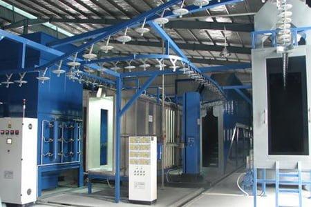 Hệ thống máy sơn tĩnh điện hiện đại