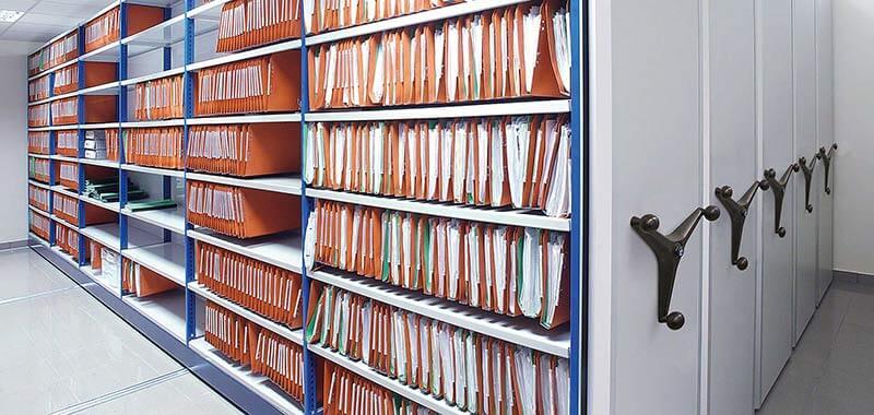 kệ lưu trữ trượt tự động chứa hồ sơ