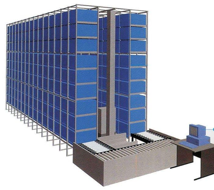 Mô hình kệ trung tải chứa hàng