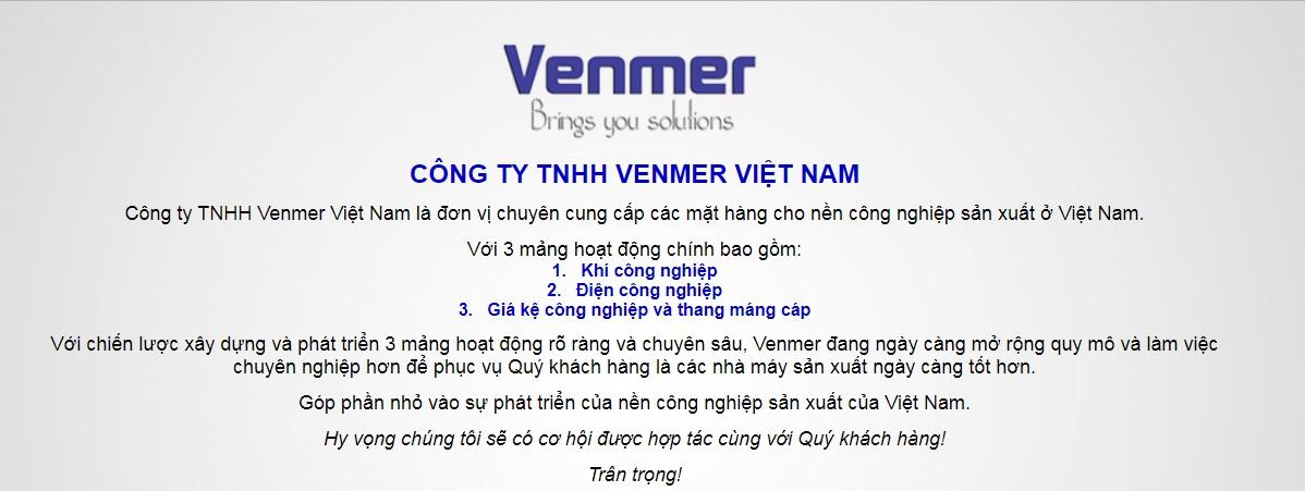 Công ty kệ để hàng Venmer