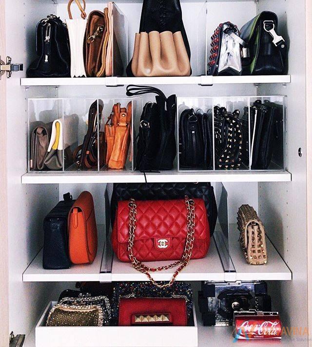 Kệ để túi xách kết hợp nhiều ngăn