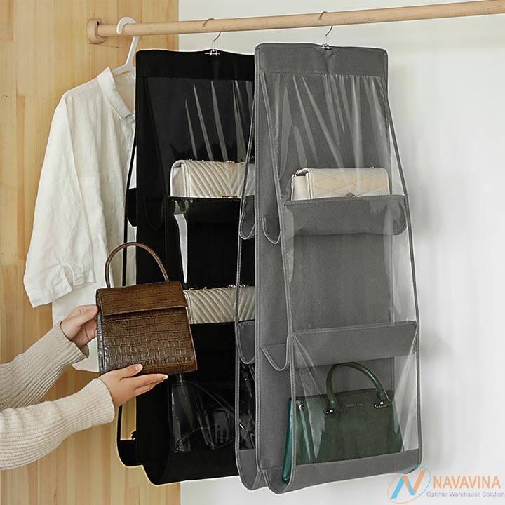 Kệ trưng bày túi xách có túi bảo quản