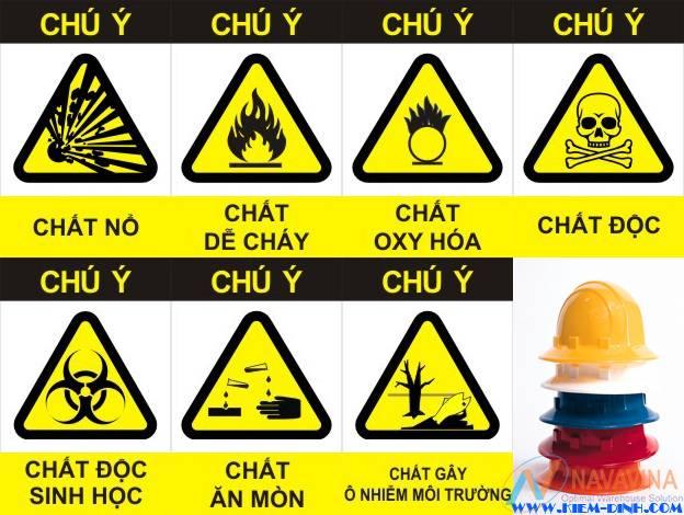 Ghi biển báo rõ ràng các khu vực hàng hóa nguy hiểm