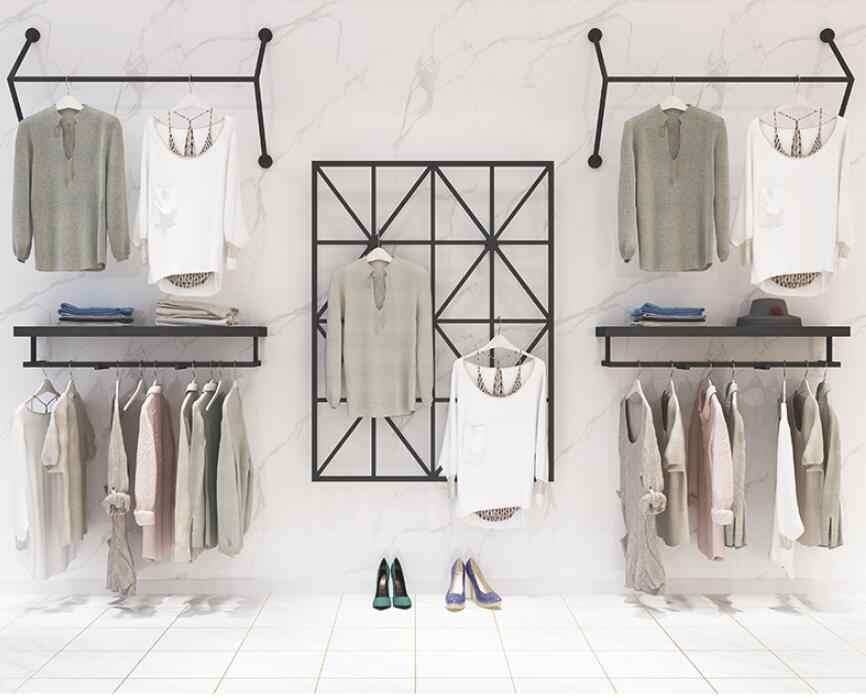 Kệ treo quần áo gắn tường
