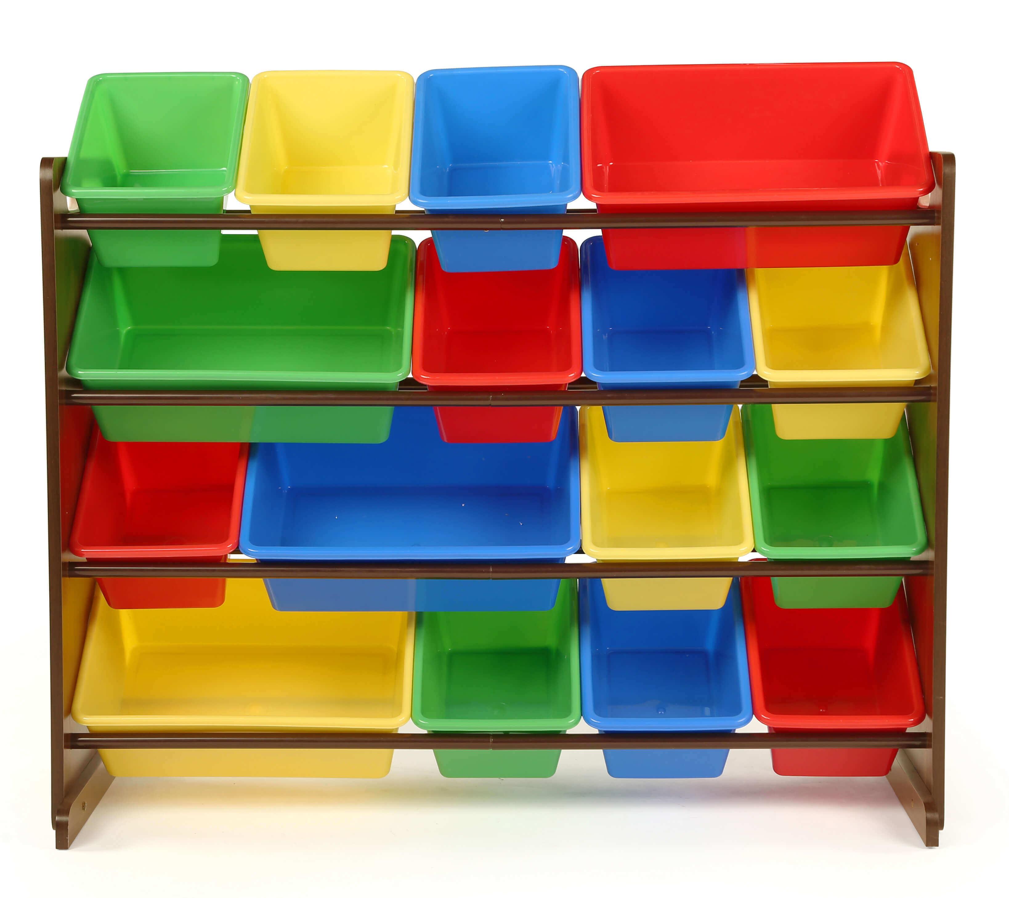 Kệ đề đồ chơi làm bằng nhựa chắc chắn nhiều màu sắc