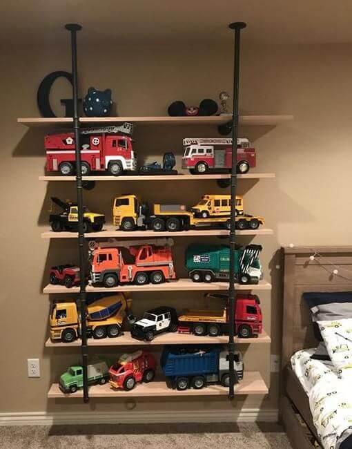 Kệ treo tường đựng đồ chơi cho bé