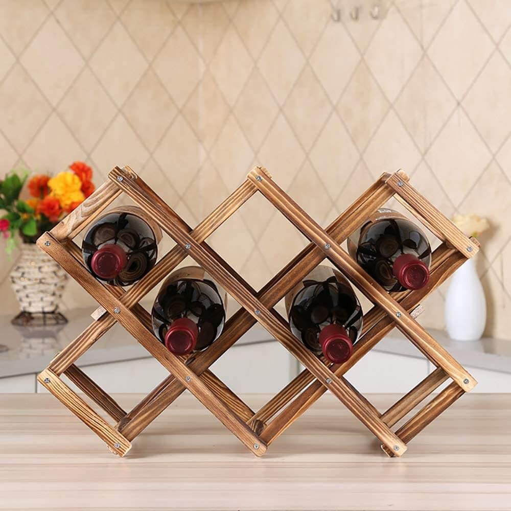 Kệ để rượu vang bằng gỗ