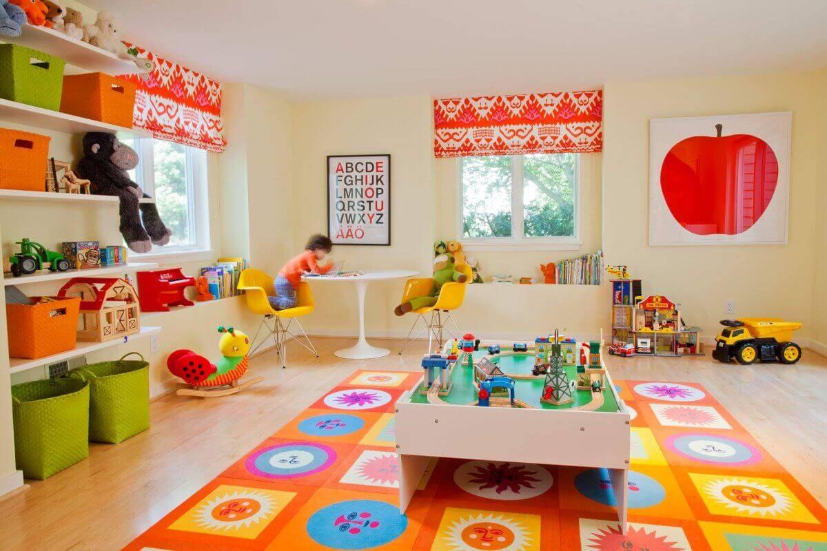 Thiết kế kệ tủ đựng đồ chơi dưới sàn