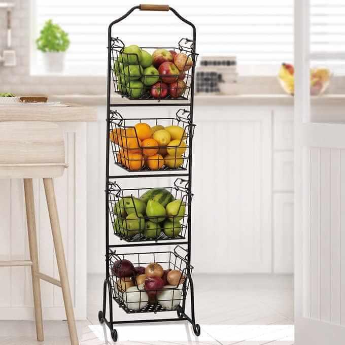 Các mẫu kệ trưng bày trái cây đẹp phổ biến nhất 2021 6