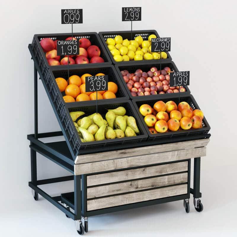 Các mẫu kệ trưng bày trái cây đẹp phổ biến nhất 2021 8