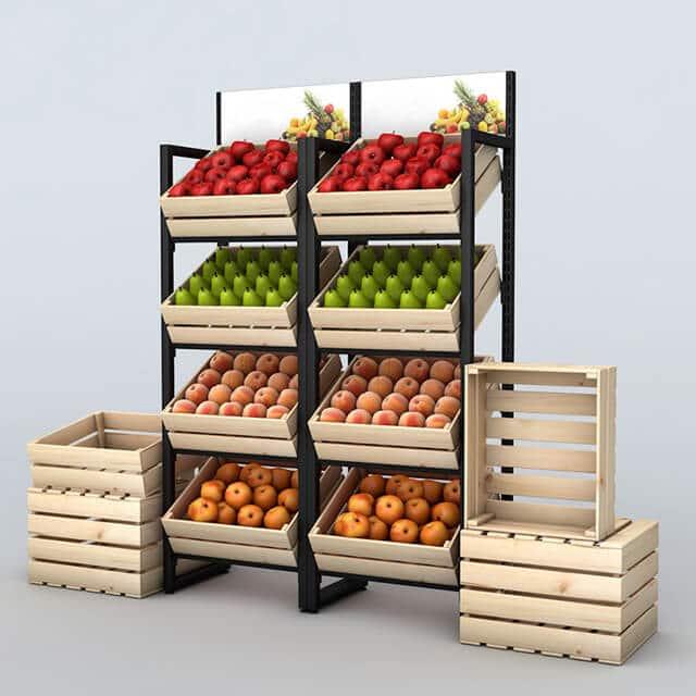 Các mẫu kệ trưng bày trái cây đẹp phổ biến nhất 2021 7