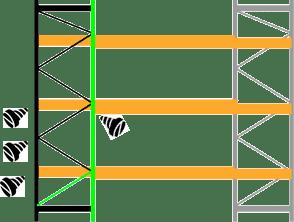 Nếu cột thẳng đứng không bị hỏng, hãy lắp đường chéo